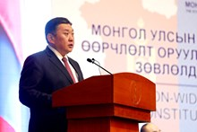 Opening remarks by Chairman of the State Great Hural (Parliament) of Mongolia H.E. Mr. M.Enkhbold at the deliberative meeting of the deliberative polling on constitutional amendment