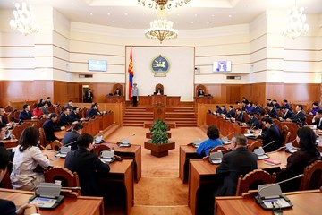 Video: 2017 spring session of the State Great Hural (Parliament) of Mongolia has commenced