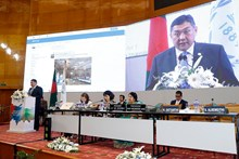 Chairman M.Enkhbold delivered a keynote speech at the 136th Assembly of the IPU
